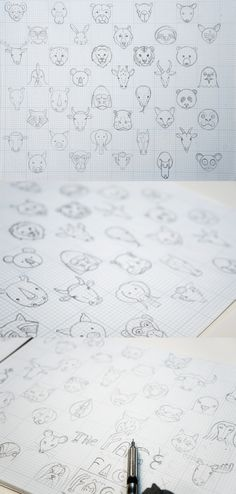 Face the Animals: Animal Line Icon Set on Behance