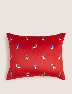 Buy the Velvet Skating Penguin Small Cushion from Marks and Spencer's range. Small Cushions, Scatter Cushions, Penguins, Skate, Velvet, Compact, Festive, Bed Pillows, Fill
