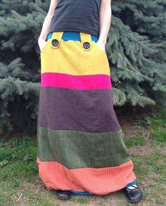 bavlněnolněná dlouhá sukeň Skirts, Fashion, Moda, Fashion Styles, Skirt, Fashion Illustrations, Gowns, Skirt Outfits