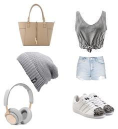 """""""Allison style"""" by marianaraposo on Polyvore featuring WithChic, Topshop, adidas Originals, The North Face and B&O Play"""