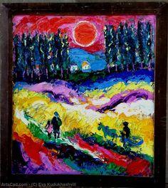 Artwork >> Eva Kudukhashvili >> ,,Tsitelubani field''