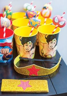 Super Hero Wonder Woman Birthday Party // Hostess with the Mostess® Wonder Woman Birthday, Wonder Woman Party, Birthday Woman, 5th Birthday Party Ideas, Birthday Fun, First Birthday Parties, Girl Superhero Party, Bday Girl, Adoption Shower