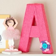 Make custom yarn-wrapped letters with this easy tutorial.