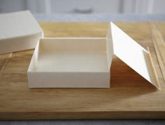 Collapsible Box with Attached Lid - Small Square