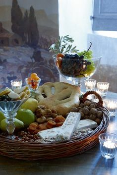 This reminds me of Grimaud and our lunches on the balcony - a smorgasbord ...