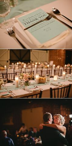 We would like the tables set like this - with white table clothes, white napkins, and ? color menu/thank you cards. For the Center table runner we want burlap & lace (which we will bring) Wedding Reception, Our Wedding, Dream Wedding, I Got Married, Getting Married, Thank U Cards, Wedding Types, Marry You, Wedding Announcements