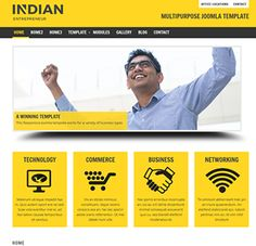 Indian Entrepreneur is a multipurpose Joomla template built using the bootstrap framework and featuring a responsive layout with collapsible module positions and tons of customization features. Joomla Templates, Responsive Layout, Business Technology, Business Entrepreneur, Innovation, Fonts, Colours, Indian, Electronics