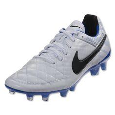 Nike Tiempo Legend V FG - White Black Treasure Blue - Reflective Pack Firm  Ground Soccer Shoes ff695e1a26950