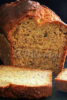 """Terapia do Tacho: """"Pão"""" de amêndoa e banana (sem açúcar e sem manteiga) ( (sugar and butter free) Almond and banana """"bread"""")"""