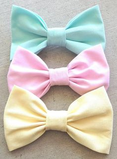 Pastel Bows by HairBowsbyAndrea on Etsy