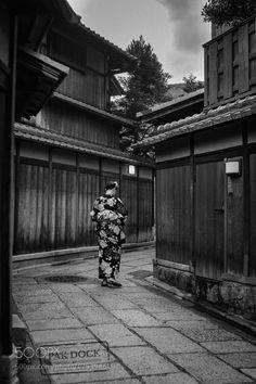 Popular on 500px : Girl in an empty street  Kyoto by PAkDocK