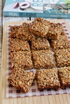 Seed and Nut Bars - Gluten Free Healthy Lunch Box Snack (Real Delicious)