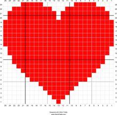 Stitch Fiddle is an online crochet, knitting and cross stitch pattern maker. Crochet Pixel, Crochet Chart, Crochet Blanket Patterns, Mini Cross Stitch, Cross Stitch Heart, Cross Stitch Cards, Knitting Squares, Knitting Stitches, Knitting Patterns