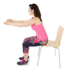 Who knew sitting in a chair could be such a challenge? Burn up the butt, legs and core with this simple move. All you need is a chair and 60 seconds, go!