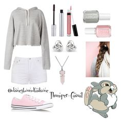 """Thumper-Casual"" by disneybound-fashion ❤ liked on Polyvore featuring Disney, Ally Fashion, Faith Connexion, Converse, T. LeClerc, Bare Escentuals, Essie, Bling Jewelry and Georgini"