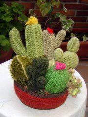 CACTUS   Klart Kraft Plant Decor, Crochet Flowers, Cactus Plants, Lana, Knit Crochet, Creations, Knitting, Clothes, Succulents