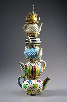 Vertical arrangements of tea pots              Source: Google