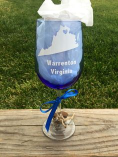 Shop small today! Get a custom home town wine glass! https://www.etsy.com/listing/258308342/home-town-wine-glass-custom-wine-glass