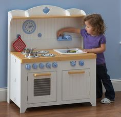 Hideaway Country Wooden Play Kitchen- capri