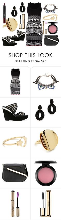 """Midi dress"" by hillarymaguire ❤ liked on Polyvore featuring Dsquared2, Joomi Lim, René Caovilla, Oscar de la Renta, Ariel Gordon, Elizabeth and James, Marc Jacobs, MAC Cosmetics, Christian Dior and Guerlain"
