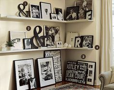 Bedroom....i already have a ton of black and white frames!