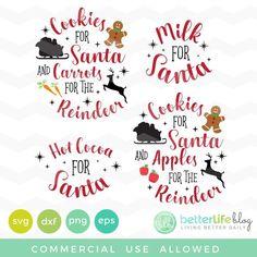 Christmas SVG Bundle (Silhouette Cameo Cricut Explore, Cricut Maker Tutorials SVG Free Files and more) Christmas Vinyl, Christmas Plates, Christmas Projects, Xmas, Cookies For Santa Plate, Santa Plates, Silhouette Cameo Christmas, Vinyl Crafts, Twig Crafts