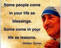 Mother Theresa#some  people blessing some lessons