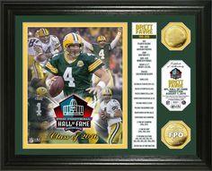 """Brett Favre 2016 Pro Football HOF Induction """"Banner"""" Gold Coin Photo Mint"""