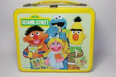Vintage Metal Sesame Street Lunch Box and Thermos