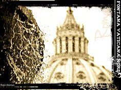 Fontana Vaticana Nord. Vaticano. Roma.