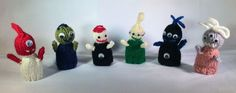 Finger Puppets Knitted Toys Hand Made Aliens - pinned by pin4etsy.com