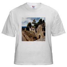 $17.99  White T-Shirt with a photo of castle ruins