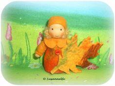 Blattkind Blumenkinder Jahreszeitentisch von Susannelfes Blumenkinder  auf DaWanda.com