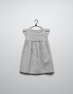 dress with lace trim on hem - Dresses - Baby girl (3-36 months) - Kids - ZARA