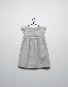 dress with lace trim on hem - Dresses - Baby girl (3-36 months) - Kids - ZARA