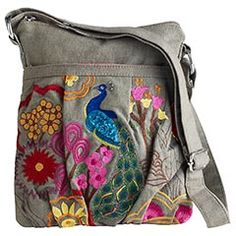 Peacock Cross Body Bag - $35 I was just telling Ryan how I needed a new purse!! ;)