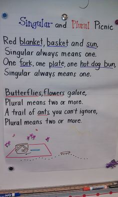 Plural and Singular Noun Song - to the tune of Hickory Dickory Dock Good jazz chant for plurals Nouns First Grade, 2nd Grade Grammar, 2nd Grade Class, 2nd Grade Writing, Grammar And Punctuation, Teaching Grammar, 3rd Grade Reading, Teaching Language Arts, Student Teaching