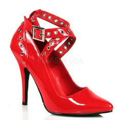 New Red High Heels W/Ankle Strap
