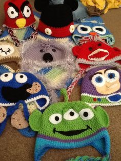 1423 Best CROCHET CHARACTER HATS images in 2019  9d0843632fe