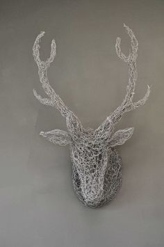 Wall Mounted Wire Mesh Stag Head