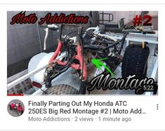 New video!!LINK IN BIO!! See the progress in the big red!! - Tag a buddy - Dm me your ride - Please go and check out my YouTube channelLink in bio - #honda #hondaatc #3wheeler #atc #bringbacktheatc #ride #dirtbike #quad #atv #rideordie #fun #bikelife #dope #wheelie #vintage #fast #beast #sendit #mechanic #gopro #utv #banshee #mx #moto #motocross #racing #track #yz #hardenduro #enduro