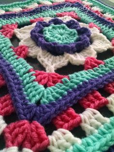 The Flower Granny Square is full of texture and raised stitches to give this flower a 3-D effect. Depending on where you place your stitch, it can make your fabric lift off the other rows, it&#8217…