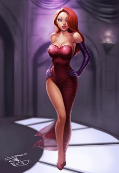 i want to be her when i grow up! lol Jessica Rabbit by Siya Oum