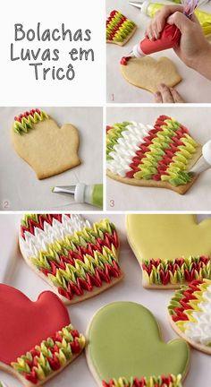 EAT MORE CAKE: Bolachas Decoradas - Padrão tricô