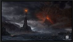 Matte Painting by Dylan Cole from Lord of the Rings.