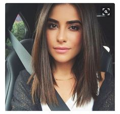 Blunt cut mid length                                                                                                                                                                                 More Straight Shoulder Length Hair Cuts, Brown Hair Medium Length, Brown Lob Hair, Haircuts For Medium Length Hair Straight, Brunette Shoulder Length Hair, Short Hair Cuts For Women Medium, Shoulder Hair Cuts, Lob Haircut Straight, Hair Cuts For Long Hair Straight
