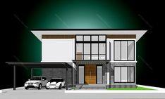 รหัสแบบ: MO-H2-BL2.287.14 บ้านสไตล์: แบบบ้านสองชั้น Modern    สเปคแบบขนาดพื้นที่ จำนวน: 2 ชั้นพื้นที่ใช้สอย: 287 ตารางเมตร ห้องนอน: 4 ห้องขนาดที่ดิน: 44 ตารางวา ห้องน้ำ: 3 ห้องที่ดินกว้าง: 13 เมตร ที่จอดรถ: 2 คันที่ดินลึก: 13.50 เมตร      ราคาก่อสร้าง 4.31 ล้าน: CON SPEC 5.48 ล้าน: METAL SPEC House Plans, Floor Plans, Mansions, House Styles, Home Decor, Decoration Home, Manor Houses, Room Decor, Villas