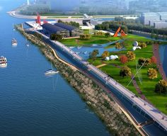 The masterplan designed by Atkins will provide connectivity and access along its length addressing of industrial sites and urban dereliction as well as linking with recent new developments and existing open space. Nanjing 2014 Youth Olympic Games