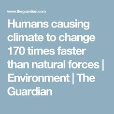 Humans causing clima