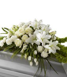 Just Flowers: A Light from Heaven Casket Spray Flowers For Mom, Church Flowers, Funeral Flowers, Wedding Flowers, Funeral Caskets, Funeral Urns, Casket Flowers, Funeral Prayers, Casket Sprays